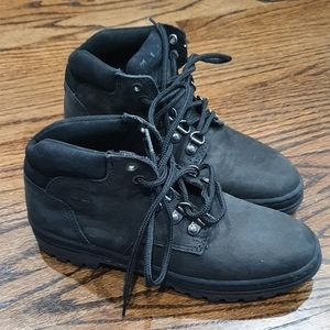 New Vintage Timberland Women's Black Boots 5.5